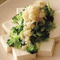 豆腐とブロッコリーのサラダ