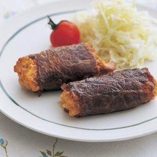 肉巻き豆腐バーグ カレー風味