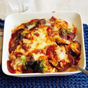 ブロッコリーと白菜のハッシュドビーフドリア