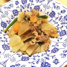 大根と豚肉のトロッと炒め