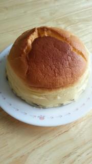 ピザ用チーズでスフレチーズケーキの写真