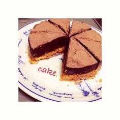 簡単!材料4つの濃厚生チョコケーキ