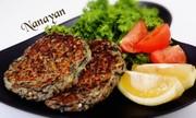 無塩料理☆根菜と乾物のふんわりハンバーグの写真