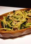 超簡単!豚肉と野沢菜漬けの炒め物