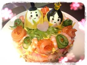 ひな祭り ちらし寿司ケーキ(^^)