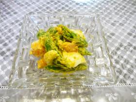 スナップえんどうと卵のスパイスマヨサラダ