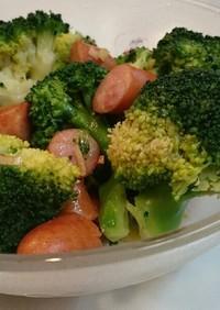 ウィンナーブロッコリーのペペロン風サラダ
