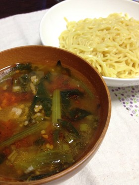 マルちゃん正麺でピリ辛つけ麺