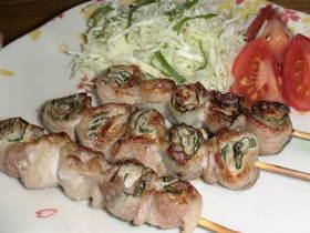 豚肉の大葉巻き(串焼き)