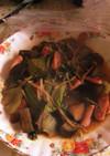 青梗菜とナスの中華炒め
