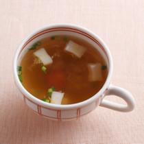 はんぺんと梅のしょうがスープ