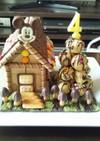 4歳の誕生日にお菓子の家