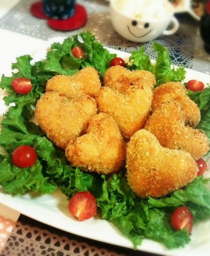 ハート型♥味噌バター風味のポテトコロッケ