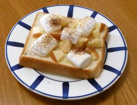 りんごとマシュマロのトースト♡