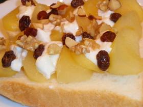 おひとりさまのりんごでスウィートトースト