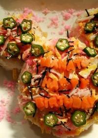 誕生日☆ひな祭りにちらし寿司ケーキ☆