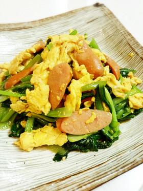 小松菜と卵のオイスターソース炒め