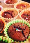 生チョコのカップケーキ