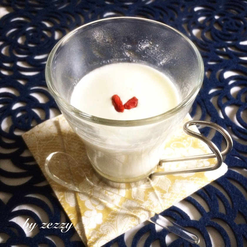 美容に!杏仁ミルク♪簡単、薬膳ドリンク。