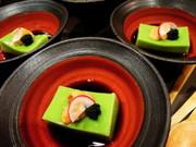 うすい豆富・新緑の季節を味わう会席料理の写真