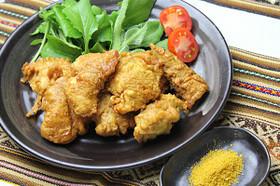 鶏ささみの天ぷら★カレー風味♪カレー塩付