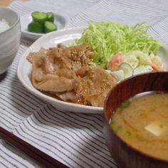 おうち食堂☆ご飯モリモリ!生姜焼き