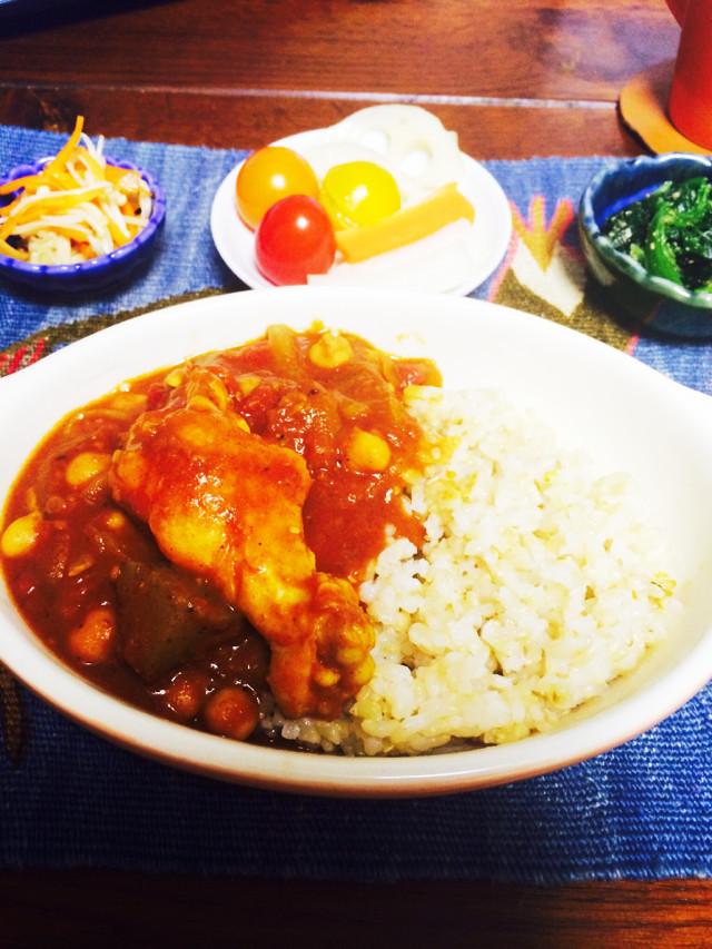 チキンとひよこ豆のトマトカレー