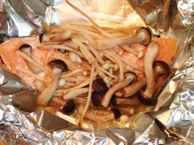 鮭 ホイル 焼き オーブン トースター