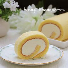 ふわふわ*レアチーズクリームロールケーキ