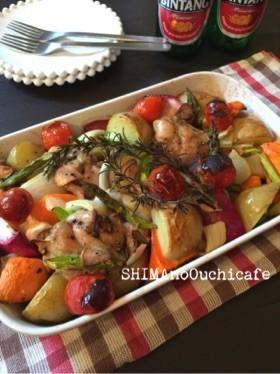 鶏肉と野菜のペッパーオーブン焼き
