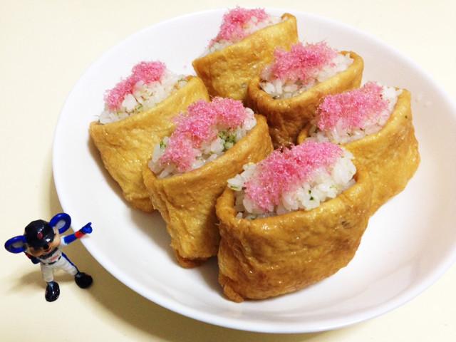 レンジで簡単いなり寿司〜花見•行楽弁当〜