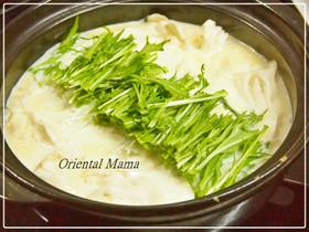 シンプル!生姜香る白だし味な豆乳豆腐鍋
