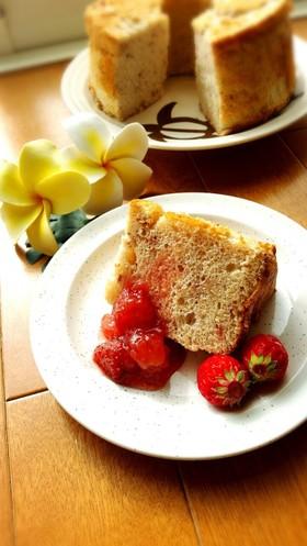 ひな祭り❤母の日❤ホケミで簡単苺シフォン