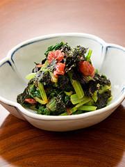 小松菜と海苔の梅干和えの写真