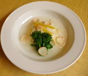 春の料理♪鰆と新筍の薯蕷蒸しの写真