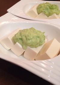 豆腐のソラマメマヨネーズサラダ