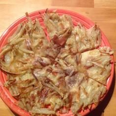 簡単ジャガイモのピザ風チーズ焼き