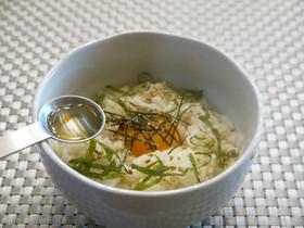 健康朝ごはん♡ 卵かけご飯に えごま油♪