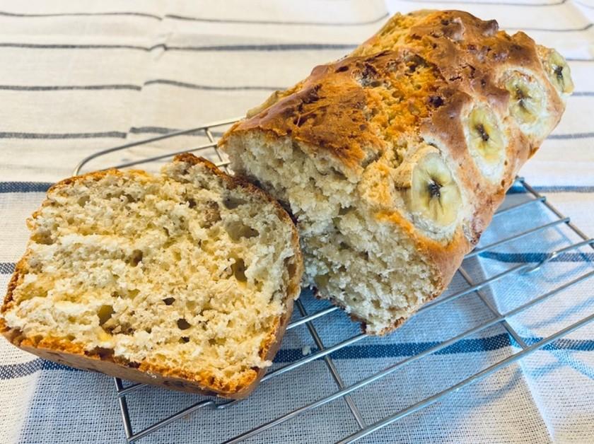 HMで簡単バナナとくるみのパウンドケーキ