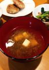 柚子豆腐ともずくの味噌汁