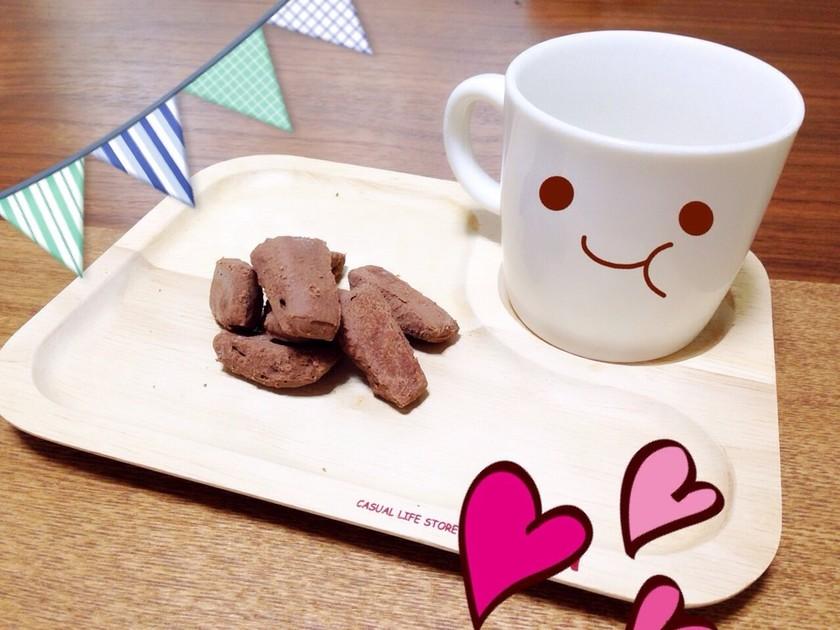 板チョコと小麦粉だけの超簡単クッキー