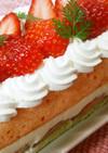 ひな祭りケーキ♡白チョコムース苺ショート