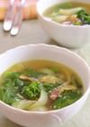 菜の花と新玉ねぎのカレースープ
