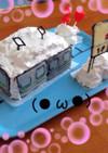 キャラチョコで電車ケーキ♪