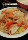マルちゃん正麺で、アジアン焼きそば