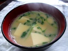 豆腐の味噌汁豆乳仕立て☆