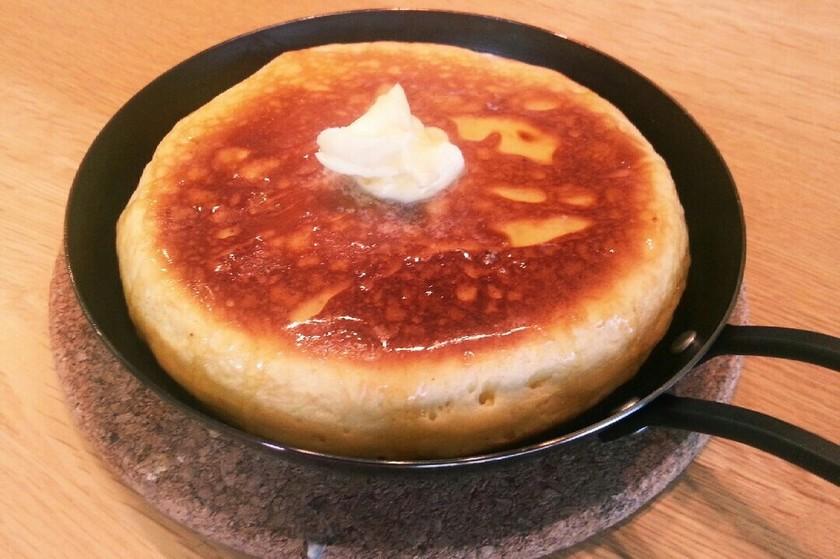豆腐とHMでふっかふかホットケーキ☆