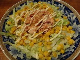 マルちゃん正麺 冷し中華 でサラダ麺