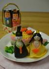 ひな祭りに!おひなさま寿司と菱形押し寿司