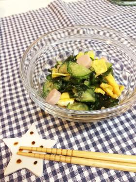 さっぱり♡玉子と魚肉ソーセージ入り酢の物